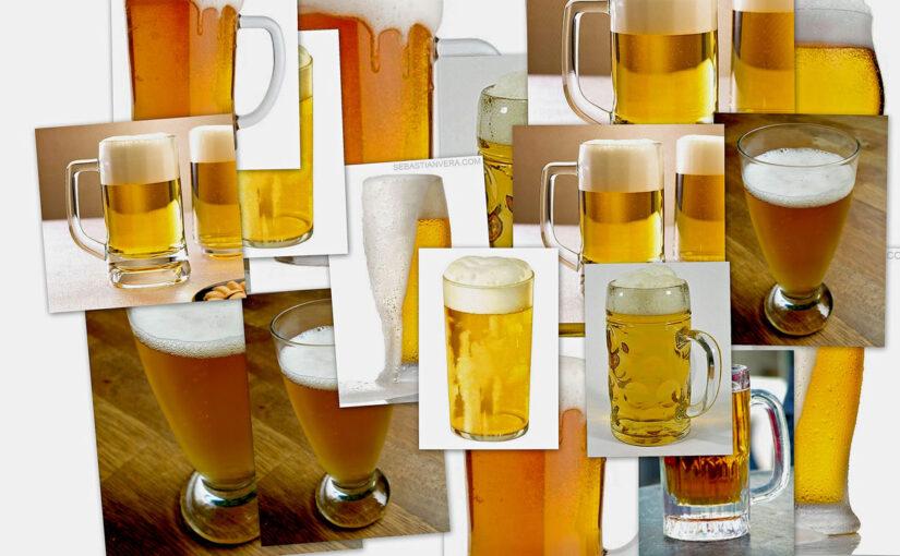 Bier in Gläsern