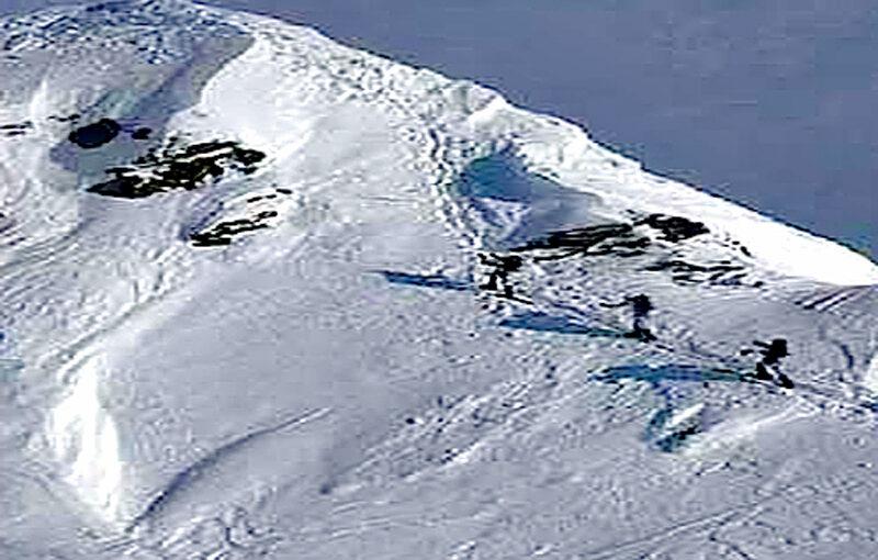 Aufstieg bei Schnee und Eis