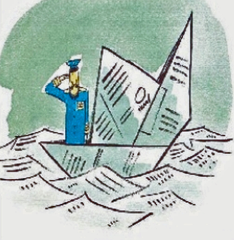 Boot aus Papier, nach Hans Traxler