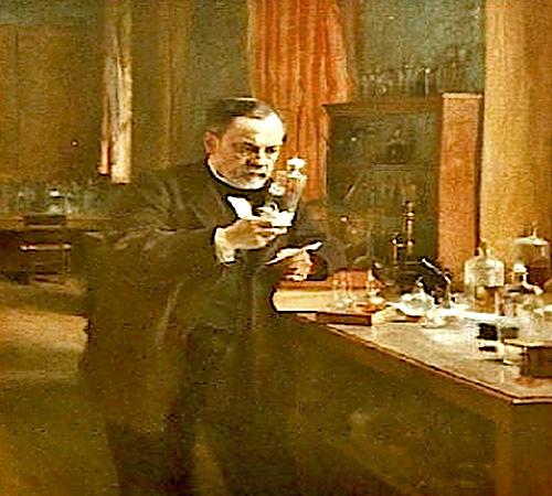 Pasteur im Labor
