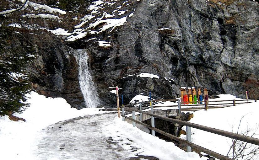 Wasserfall in Davos
